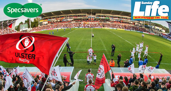 Win Ulster V Edinburgh rugby tickets courtesy of Specsavers
