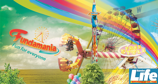 Win Unlimited Ride Family Wristband passes to Fundamania with Sunday Life!