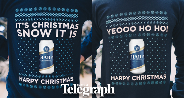 Win one of Harp's Craic-ing Christmas Jumpers
