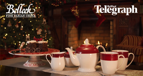 Christmas Dine and Decorate Give Away with Belleek Pottery