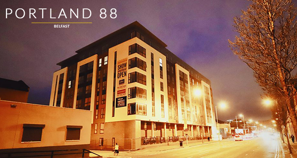 Win a rent-free year in a luxury two bedroom apartment in Belfast's Portland 88!