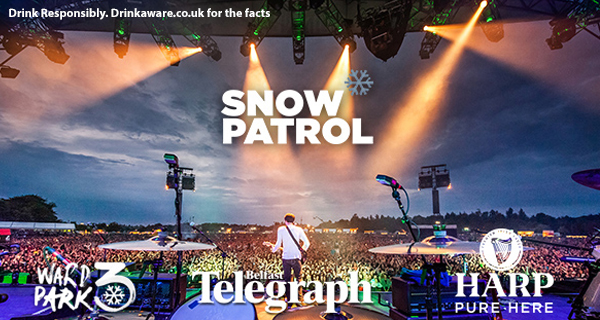 HARPY DAYS SNOW PATROL WARD PARK 3 TICKET GIVEAWAY!