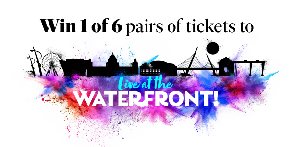 Win one of 6 pairs of tickets to Live at the Waterfront! On 22 October