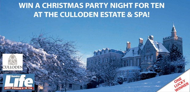 Win a Christmas Party Night for Ten at the Culloden Estate & Spa