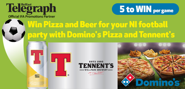 Win Pizza and Beer for your NI Football Party with Domino's Pizza and Tennent's