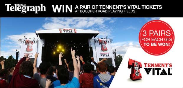 3 Pairs of Tennent's Vital Tickets to be Won to Every Gig at Boucher Playing Fields